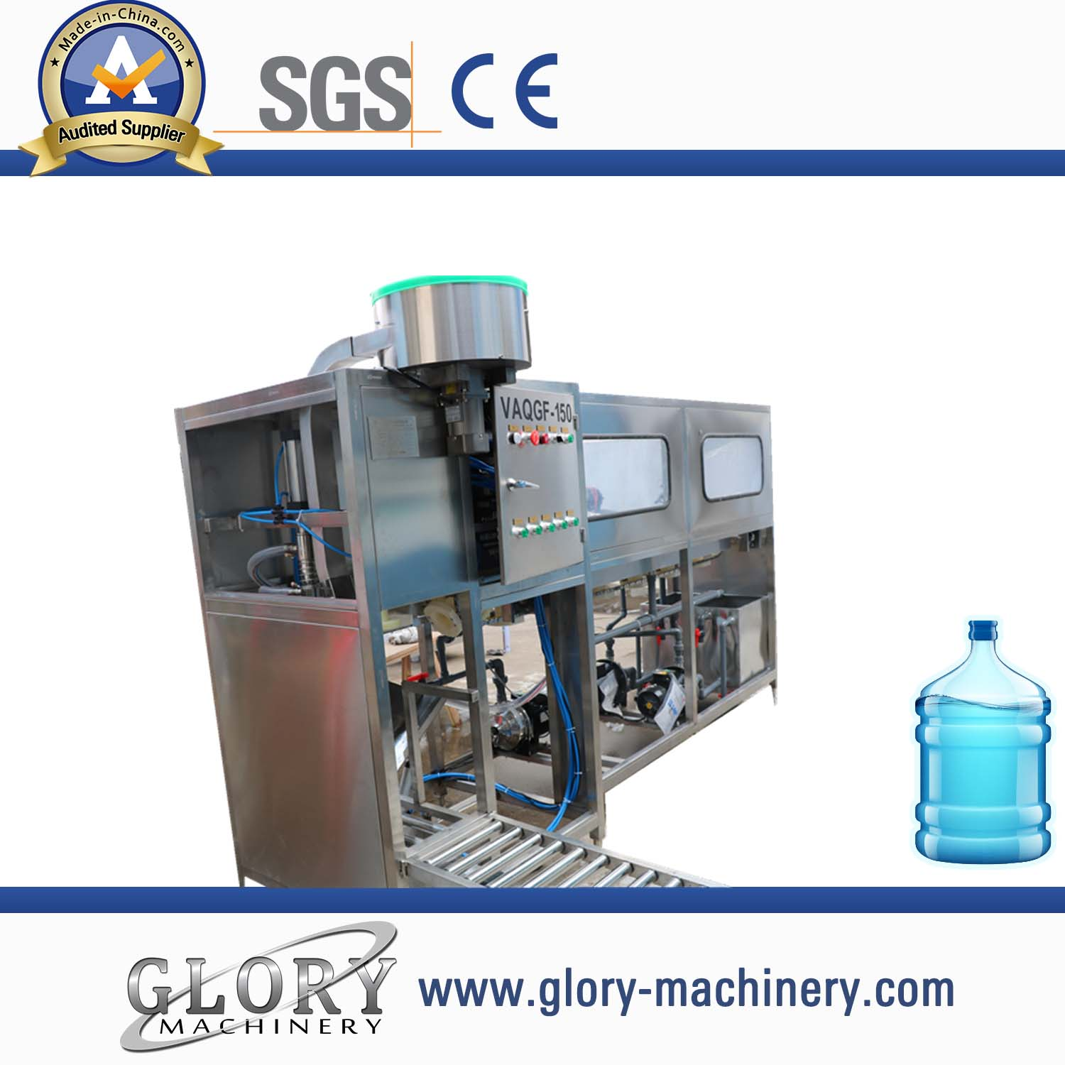 Economical 5gallon 19L barrel water washing filling capping machine