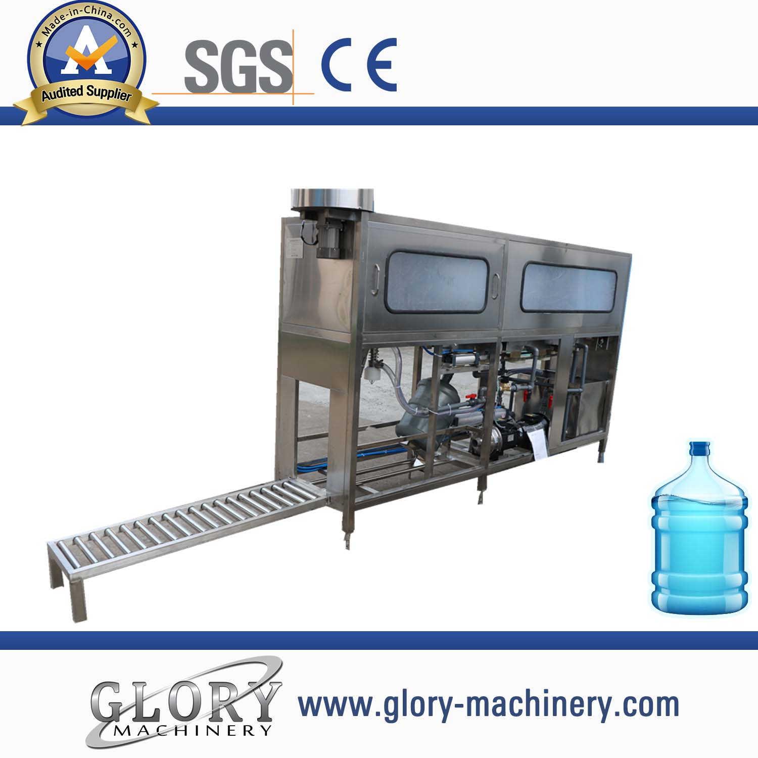 100-150BPH Automatic 5 gallon barrel water filling machine
